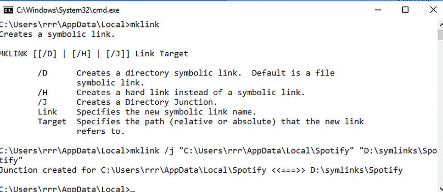 windows mklink kullanımı ve junction